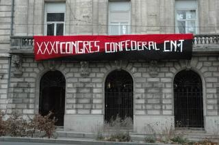 Congrès confédéral CNT à la bourse du travail de Saint-Etienne