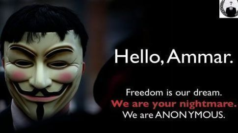 Anonymous s'attaque à Ben Ali.