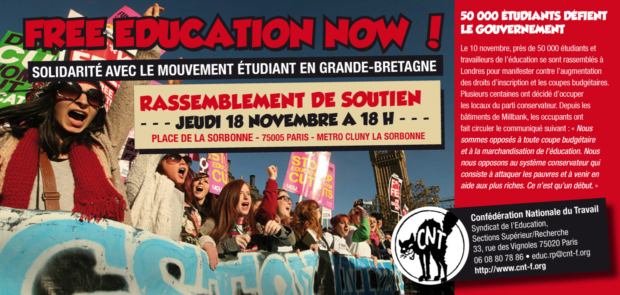 flyer Free education now